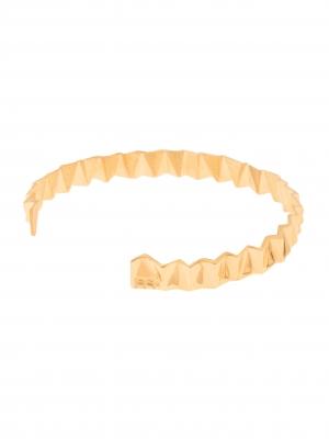 Złota bransoletka geometryczna minimalistyczna biżuteria moie