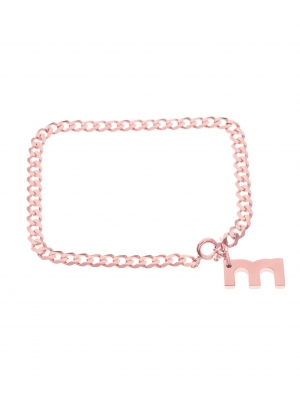 bransoletka z grubego łańcuszka różowe złoto minimalistyczna biżuteria moie