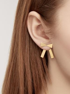 kolczyki kokardki złote bo1 gold minimalistyczna biżuteria moie