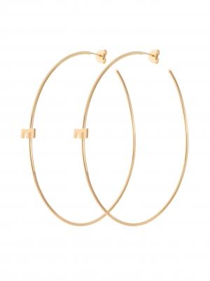 złote kolczyki duże koła minimalistyczna biżuteria moie