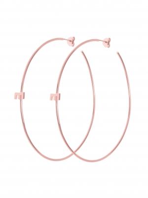 Kolczyki duże koła różowe złoto minimalistyczna biżuteria moie