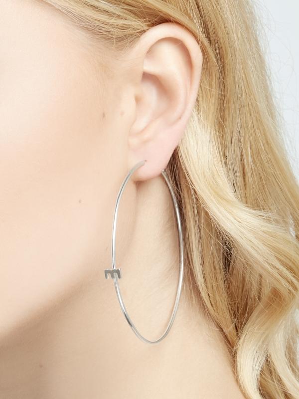 Srebrne kolczyki duże koła minimalistyczna biżuteria moie