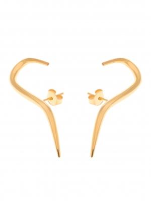 złote nausznice kolczyki minimalistyczna biżuteria moie
