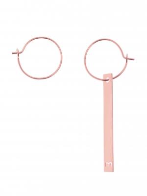 kolczyki blaszki różowe złoto minimalistyczna biżuteria moie