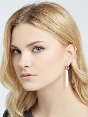 Srebrne kolczyki blaszki minimalistyczna biżuteria moie