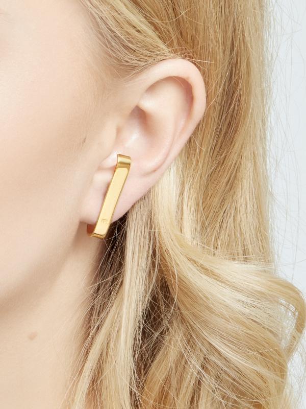 Złote minimalistyczne kolczyki minimalistyczna biżuteria moie