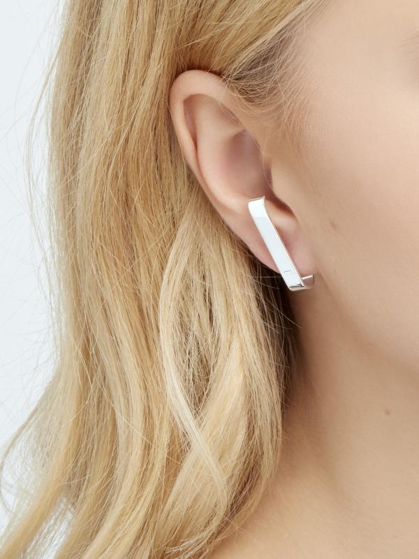 Srebrne minimalistyczne kolczyki minimalistyczna biżuteria moie