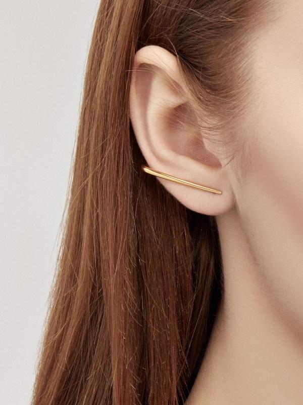 złote kolczyki linie me5 gold złoto minimalistyczna biżuteria moie