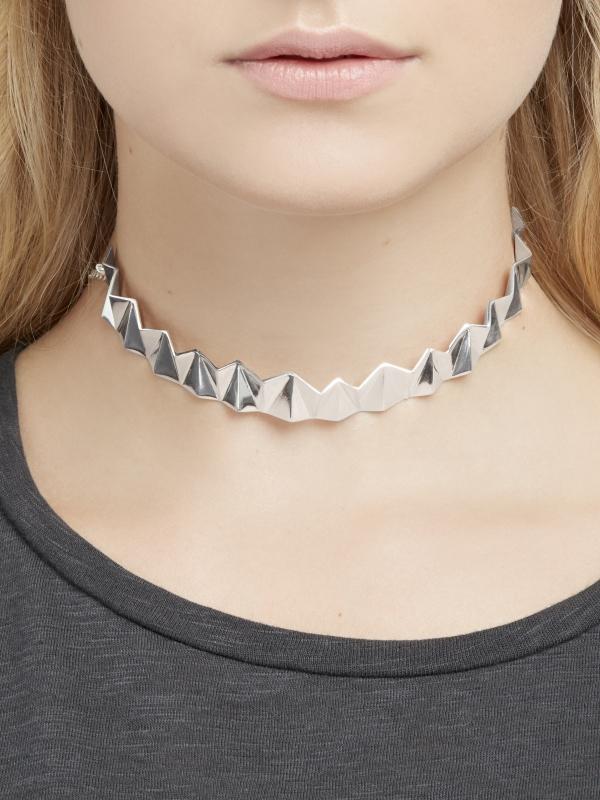 Srebrny naszyjnik geometryczny minimalistyczna biżuteria moie