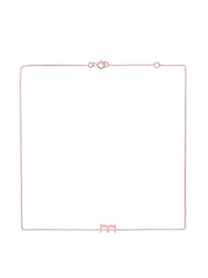 łańcuszek z literką M naszyjnik różowe złoto minimalistyczna biżuteria moie