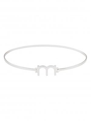 srebrny choker z literą minimalistyczna biżuteria moie