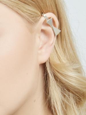 Srebrna nausznica z kokardką minimalistyczna biżuteria moie
