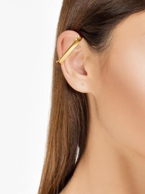 moie Złota nausznica podłużna minimalistyczna biżuteria moie
