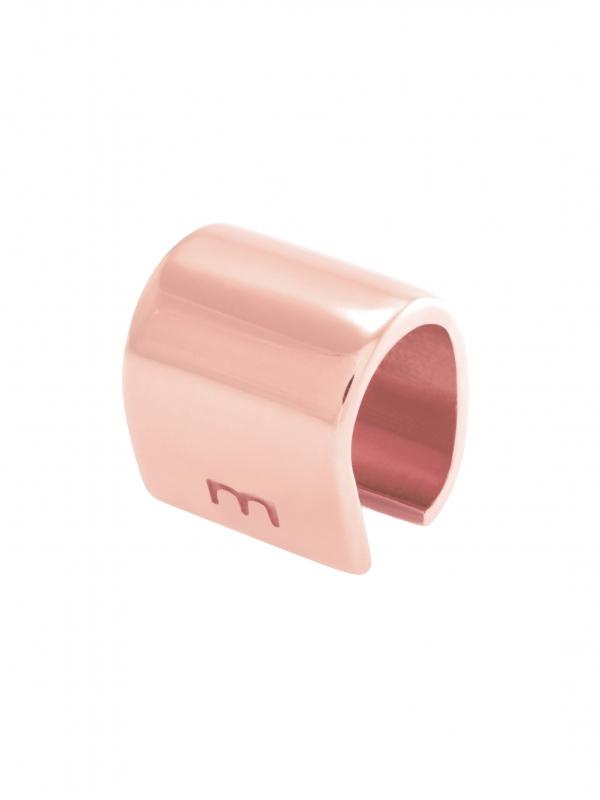 Nausznica na chrząstkę różowe złoto minimalistyczna biżuteria moie