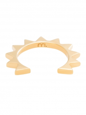 MOIE Złota nausznica z trójkącikami minimalistyczna biżuteria moie