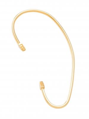 moie Złota nausznica z trójkątami minimalistyczna biżuteria moie