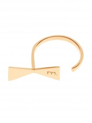 Złoty pierścionek z kokardką minimalistyczna biżuteria moie