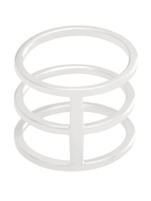 moie Srebrny pierścionek potrójny minimalistyczna biżuteria moie
