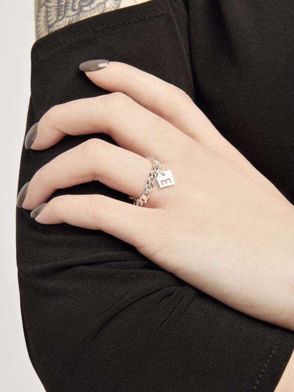 Srebrny pierścionek łańcuszek me1 silver srebro minimalistyczna biżuteria moie