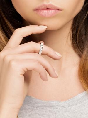 moie Srebrny pierścionek obrączka minimalistyczna biżuteria moie