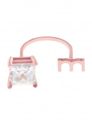 Pierścionek z cyrkonią różowe złoto minimalistyczna biżuteria moie