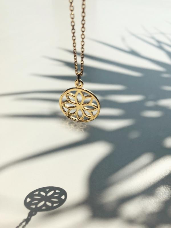 Łańcuszek z zawieszką naszyjnik re2 gold złoto minimalistyczna biżuteria moie