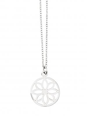 Naszyjnik z kwiatkiem re2 silver srebro minimalistyczna biżuteria moie