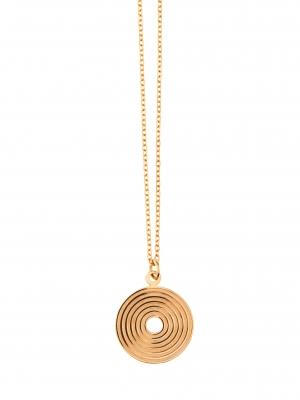Łańcuszek z medalionem naszyjnik re3 gold złoto minimalistyczna biżuteria moie