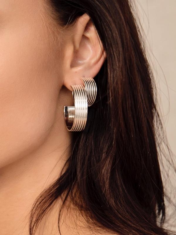 kolczyki koła szerokie re11 silver minimalistyczna srebrna biżuteria moie srebro