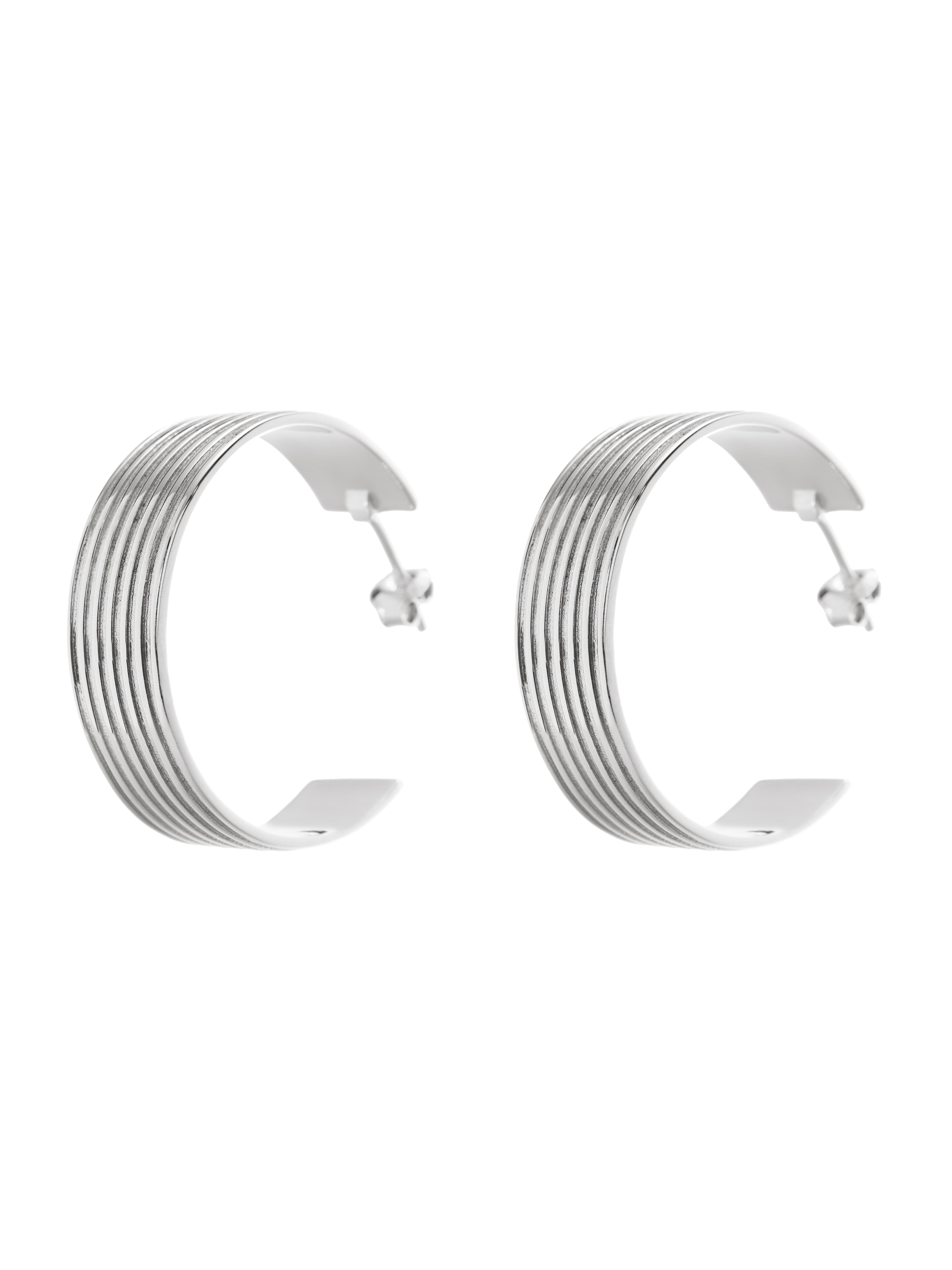 kolczyki koła duże re11 srebro biżuteria moie