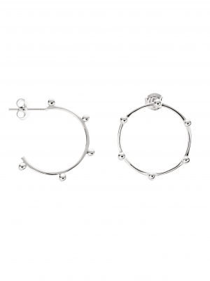 Kolczyki asymetryczne małe kółka re7 silver srebro minimalistyczna biżuteria moie