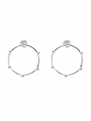 Kolczyki płaskie kółka re8 silver srebro minimalistyczna biżuteria moie
