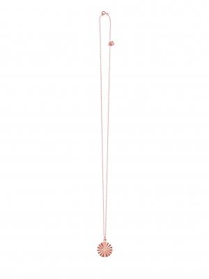 Naszyjnik z geometryczną zawieszką re4 rose gold różowe złoto minimalistyczna biżuteria moie